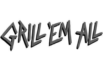 Grill 'Em All logo black and white
