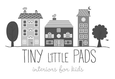 Tiny Little Pads logo black and white